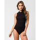 FULL TILT Mock Neck Womens Bodysuit