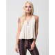 CHLOE & KATE Lace Up Womens Tank