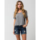 ZCO Cuffed Womens Denim Shorts