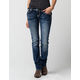 MISS ME Disco Diva Womens Straight Fit Jeans