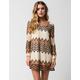 FULL TILT Chevron Crochet Dress