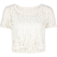 FULL TILT Lace Crochet Womens Crop Top