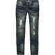 ALMOST FAMOUS Destructed Jeweled Womens Jeans