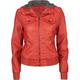 FULL TILT Faux Leather Sweater Hood Womens Jacket
