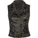 FULL TILT Asymmetric Zip Faux Leather Womens Vest