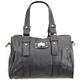 Faux Leather Duffle Handbag