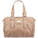 Faux Leather Duffle Handbag