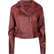 JOU JOU Faux Leather Womens Moto Jacket