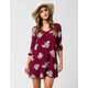 FULL TILT Embroidered Floral Dress