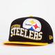 NEW ERA Wave Steelers Mens Snapback Hat