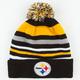 NEW ERA Stripe Out Steelers Beanie