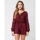 INNY Lace Up Womens Romper