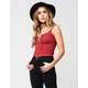 FULL TILT Lace Up Womens Sweater Cami