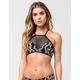 REEF High Neck Snake Print Bikini Top