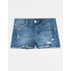 SCISSOR Ripped Fray Edge Girls Denim Shorts