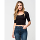 BOZZOLO Elbow Sleeve Womens Crop Top