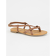 SODA Criss Cross Girls Thong Sandals