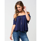 H.I.P. Off The Shoulder Womens Peasant Top