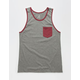 BLUE CROWN Hi Lo Mens Pocket Tank