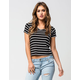 FULL TILT Striped Womens V-Neck Tee