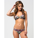 FULL TILT Chevron On The Run Strap Side Bikini Bottoms
