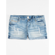 ALMOST FAMOUS Destructed Rolled Cuff Girls Denim Shorts
