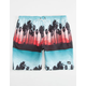 NEFF Palm Stripes Mens Hot Tub Shorts