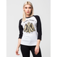 REBEL8 Fate For None Womens Raglan Tee