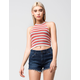 TAYLOR & SAGE Striped Womens Halter Top