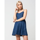 MIMI CHICA Denim Swing Dress