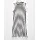 FULL TILT Rib Stripe Girls Mock Dress