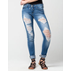 FLYING MONKEY Super Destructed Womens Skinny Jeans