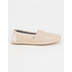 TOMS Natural Woven Rope Sole Womens Classic Slip-Ons