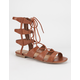 CITY CLASSIFIED Mid Height Ghillie Womens Gladiator Sandals