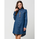 MIMI CHICA Button Up Denim Dress