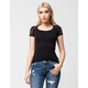 AMBIANCE Lace Cap Sleeve Womens Tee