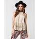 TAYLOR & SAGE Suede Womens Top