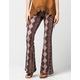 FULL TILT Baroque Printed Womens Flare Pants