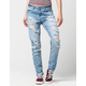 REWASH Destructed Womens Skinny Jeans