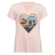 FULL TILT Ferris Wheel Heart Lace Up Girls Top