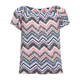 H.I.P. Chevron Print Girls Peasant Top