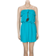 ALI & KRIS Ruffle Ruffle Peacock Tube Dress