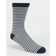 BLUE CROWN Striped Mens Crew Socks