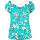 FULL TILT Floral Print Crochet Back Girls Top