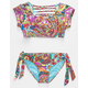 HOBIE Peace Love Paisley Girls Crop Swim Set