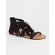 CELEBRITY NYC Tiered Fringe Womens Sandals