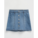CELEBRITY PINK Button Front Girls Denim Skirt