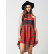 FULL TILT Medallion Print High Neck Dress