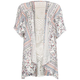 FULL TILT Floral Print Lace Girls Kimono