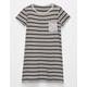FULL TILT Contrast Striped Girls Pocket Dress